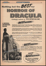 HORROR OF DRACULA__Original 1958 Trade AD promo / poster__CHRISTOPHER LEE_HAMMER
