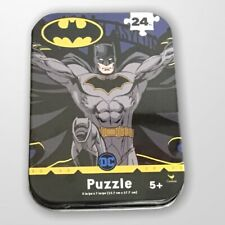 """Batman Puzzle Collector Tin 24 Pc New Sealed  Age 5+ 5"""" x 7"""""""
