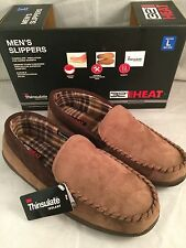 32 Degrees Heat Brown Memory Foam Indoor Outdoor Soles Mens Sz L 9.5 - 10.5 NIB