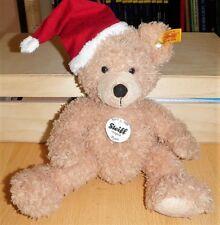 steiff teddybär mit Weihnachtsmütze hellbraun,28 cm NEU 110795 sehr süß