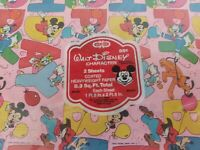 Vintage Gift Wrap Sheets - Walt Disney Character