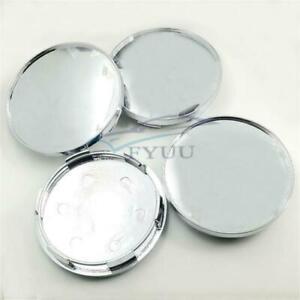 High Quality 4Pcs 68mm Chrome Silver ABS Car Auto Wheel Center Hub Caps Covers