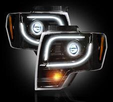 Recon 264273BK - Black Smoked Ford Projector Headlights 13-14 F-150 SVT Raptor