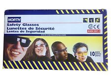10pr North Safety Glasses Grey Frame Side Protection PPE personal  Protective