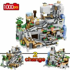 Building Blocks Minecraft The Mountain Cave With Elevator 1000 Pieces Kids Toys
