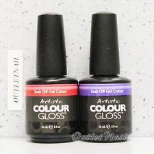 Artistic Nail Design Colour Gloss SET OF 2 Colors Gel Lot Kit 0.5 oz - Ship 24H