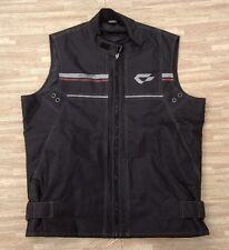 Contin Motorsports Motorcylce Vest ~ Unisex ~ Sleeveless Black