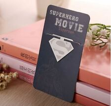 Superhero logo Metal Bookmark Clip Superman Logo Bookmarks Clip for kids