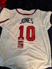 Chipper Jones Signed Auto Autographed Braves Replica Custom Jersey JSA