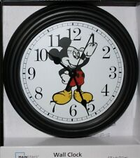 """SPRING SPECIAL-$28.77 MICKEY MOUSE QUARTZ CLOCK 8 1/2"""" IN DIAMETER-QUALITY-NEW"""