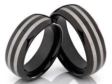 2 wolframio anillos de Bodas compromiso pareja con grabado láser