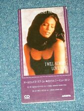 "WHITNEY HOUSTON Japan Only 1992 Tall 3"" inch CD Single I WILL AWAYS LOVE YOU"