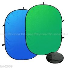 Collapsible Background 150x200cm ChromaKey BLUE/GREEN Reversible Panel Durable