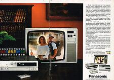 PUBLICITE ADVERTISING  1981   PANASONIC  téléviseur magnétoscope ( 2 pages)