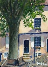 ORIGINALE Terry George PITTURA ELM Hill Norwich, Norfolk