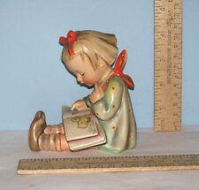 Girl With Book - Book Worm or Bookworm - Goebel V bee mark - Western Germany