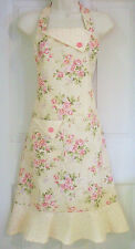 Floral Full Apron, Women's Full Apron, Cottage Chic, Floral Apron, Vintage Style