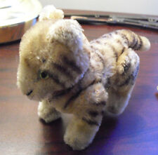 "Small Vintage Steiff Mohair Fully Jointed Tiger Cub Stuffed Animal 4"" Tall"