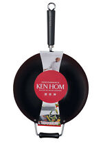 Ken Hom Carbon Steel 32cm Non-stick Wok