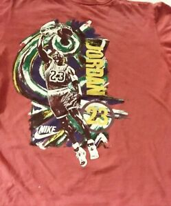 1990's  Air JORDAN NIKE USA made T-Shirt white TAG YOUTH Size 10-12 M AS IS