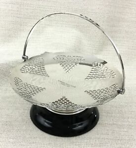 1936 Silver Plated Centerpiece Basket Stand Golfing Trophy Mappin Webb Art Deco