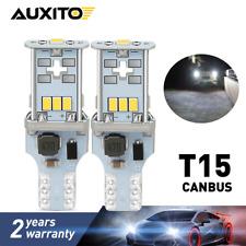 AUXITO 10P 921 912 T15 LED Reverse Backup Light Bulb 2400LM 6000K Super Bright