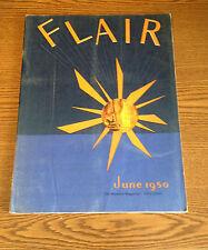 FLAIR MAG JUNE 1950-LAVISH-WALKER EVANS-HENRY MILLER-ROSE LEE BOOKLET-SANDOZ+VG+