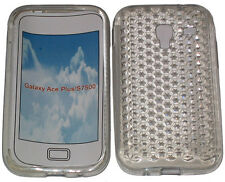 For Samsung Galaxy Ace Plus GT S7500 Pattern Gel Case Protector Cover Clear New