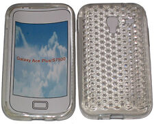 Per SAMSUNG GALAXY ACE PLUS GT S7500 PATTERN Gel Custodia Protettiva Cover Chiara Nuovo