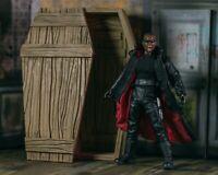 Wooden Coffin DIORAMA PROP ONLY Blade Mezco, Marvel Legends, 1/12