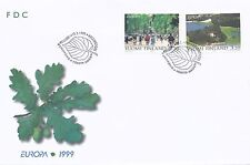 Finland 1999 FDC - Parks in Helsinki & Turku - Oak Tree EUROPA - Scott 1111-1112