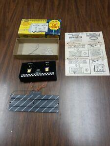Vintage 1964 Aurora Slot Car Track - #1465 Two Lane Electric Lap Counter w/box