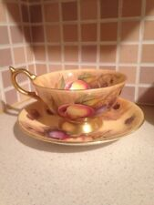 Aynsley Orchard Gold Cup And Saucer Signed N Brunt