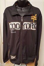 Zoo York Men's Dark Gray/Yellow/Cream Logo Track Jacket Size M