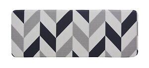 Kitchen Mat   PVC  Non Slip Anti Fatigue Laundry Mat   Herringbone Navy