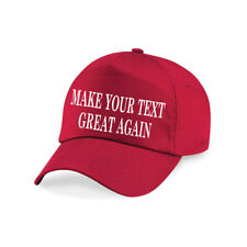 MAKE YOUR TEXT GREAT AGAIN personalised Printed Baseball Cap Hat Trump President