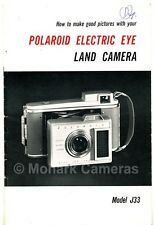 Polaroid J33 Instant Print Camera Manual, More Instruction Books & Guide Listed
