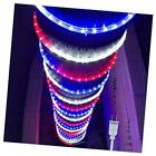 100ft Led Rope Lights Lamps Kit Indoor Outdoor Decor 100 Feet Red White Blue