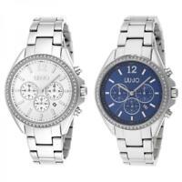 Orologio Donna LIU JO Luxury PREMIERE Chrono Bracciale Acciaio Silver Blu  NEW 9aa7b53ea4a