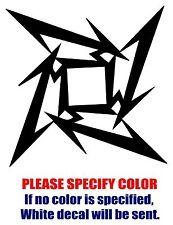 "Metallica Star Band Graphic Die Cut decal sticker Car Truck Boat Window 9"""