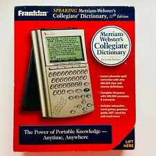 Franklin Scd-1870 Speaking Merriam-Webster's Collegiate Dictionary