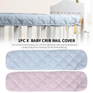 Home Baby Cot Rail Cover Teething Guard Pad Soft Crib Bumper Crib Rail Cover