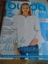 "MAGAZINE BURDA STYLE  "" SOLEIL DE MEDITERRANEE  ""  2018 N°222 DU 34 AU 52"