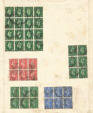COLLECTION OF GVI BLOCKS & MULTIPLES ON 7 ALBUM PAGES USED SEE THE 7 SCANS