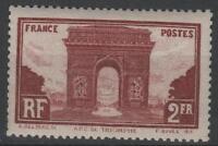 """Frankreich Stamp Briefmarke n°258 """" Bogen Triumph- L' Stern Paris """" Neu Xx Sg"""