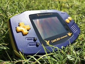 Nintendo Gameboy Advance GBA AGB-001 Purple Handheld Gaming Console Pokemon