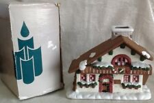 Vintage Partylite Edelweiss House 1 P0308 Christmas Village Candle Light Snow