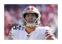 George Kittle 1 San Francisco 49ers A4 signed poster choice of frame