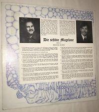 Die Schöne Magelone Johannes Brahms Opus 33 LP WRS 974 Wahlberg San Francisco CA