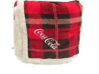 Coca-Cola Lambswool Microsherpa Plaid Throw Blanket - BRAND NEW